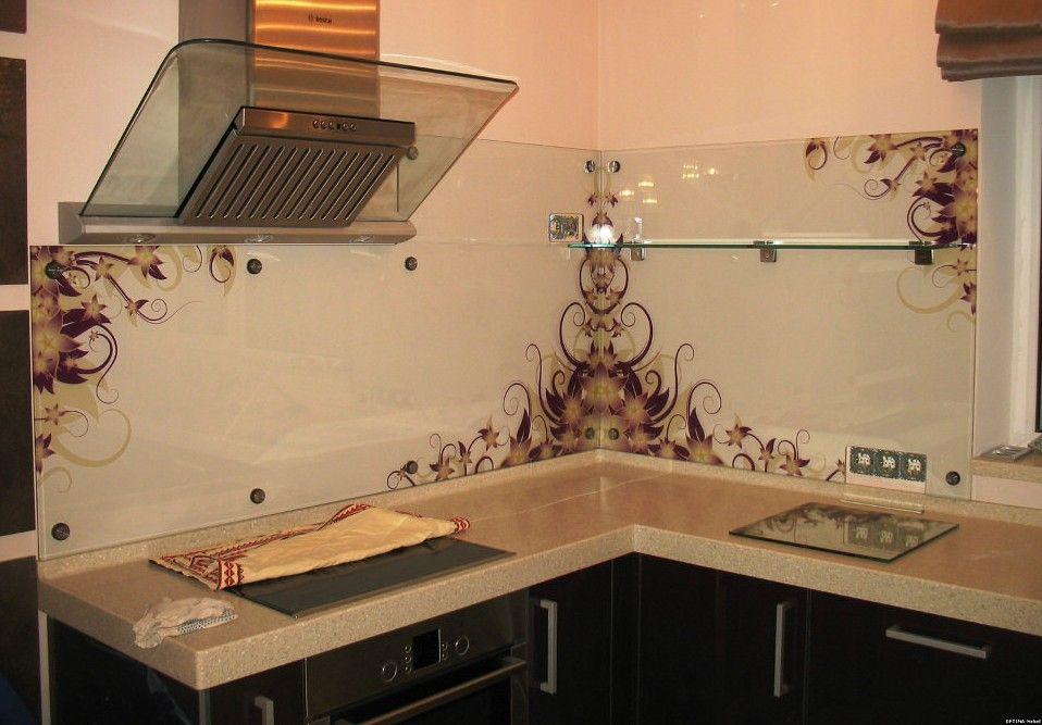 Изготовление стеклянных фартуков для кухни